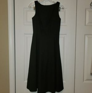 Banana republic black a line midi dress, size 4